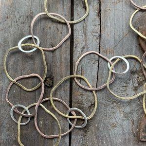 John & Linda Whitney HANDMADE necklace & earrings.